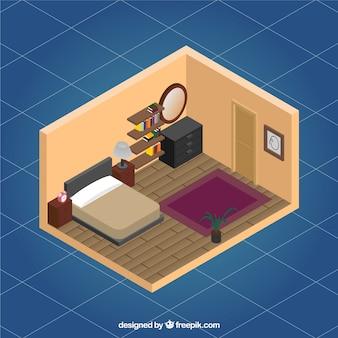 Bedroom interior Free Vector