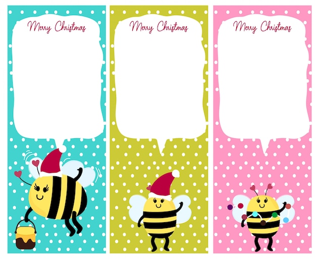 Bee animal christmas card