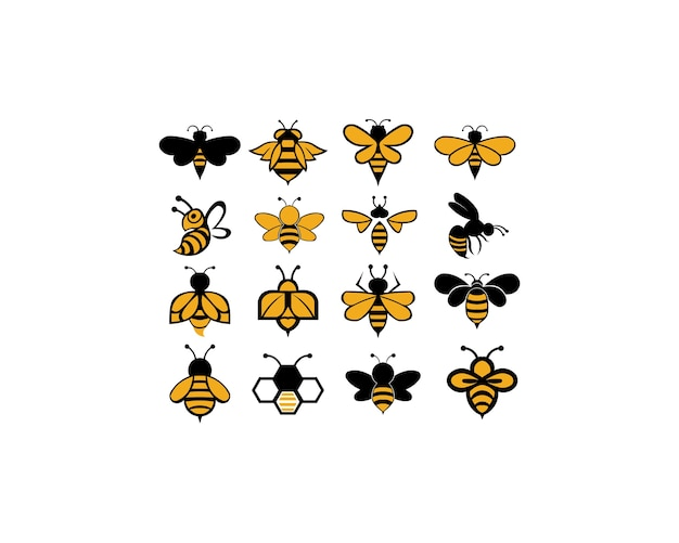 Bee animal icon