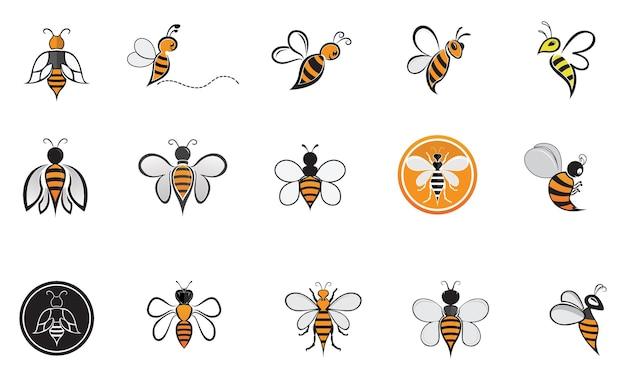 Bee animal logo symbol vector
