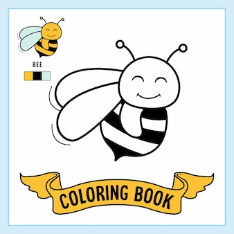 Книжка-раскраска `` пчелы ''