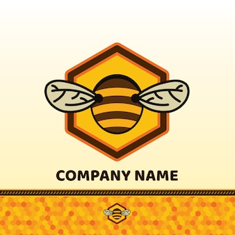 Bee badge and label.