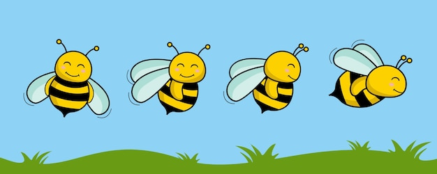 꿀벌 만화 자연