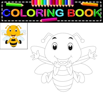 蜂のぬりえの本