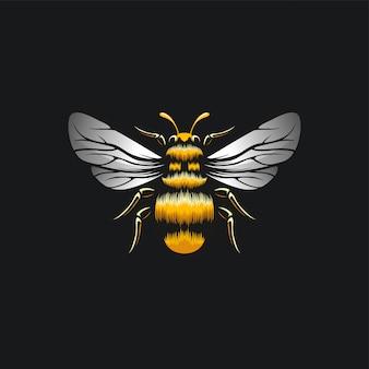 Пчела дизайн иллюстрационная Premium векторы