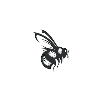 Bee drawing illustration isolated
