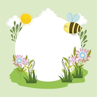 꿀벌 꽃 만화