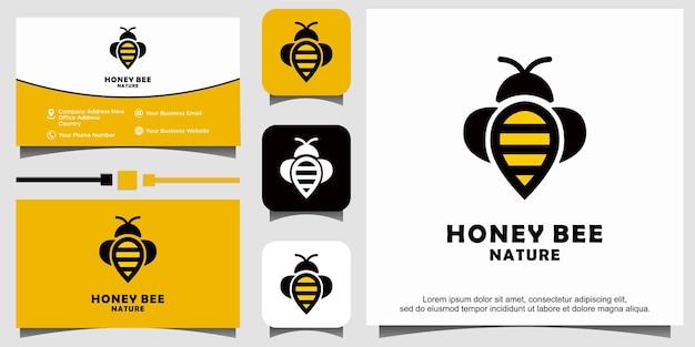 ミツバチのロゴデザイン