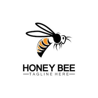 Bee honey logo vector icon symbol illustration design template