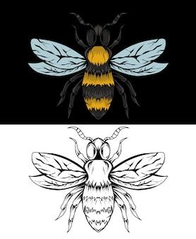 Иллюстрация пчелы