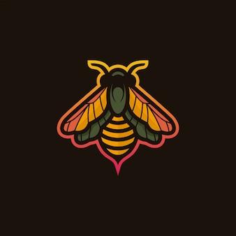 Bee logo illustration