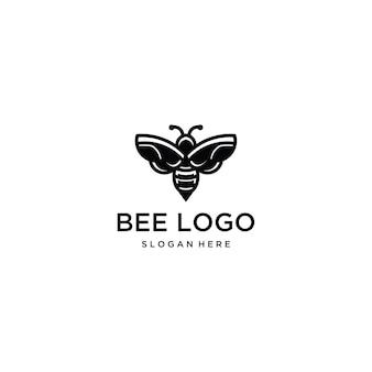 Bee logo template  icon illustration