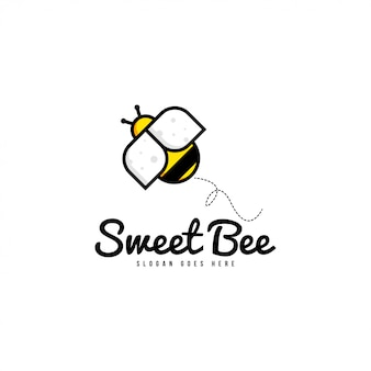 Bee logo template vector
