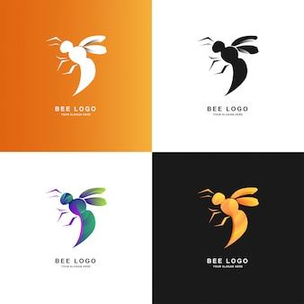 Шаблон логотипа би с градиентным цветом