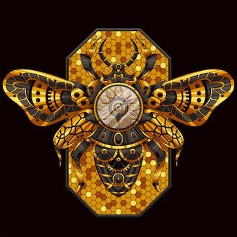 Bee ornamental illustration