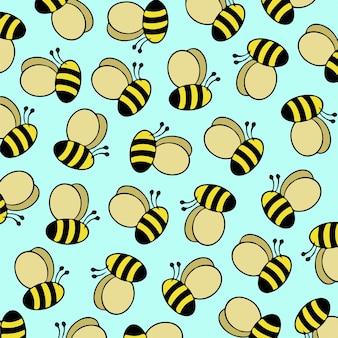 Bee pattern background vector illustration