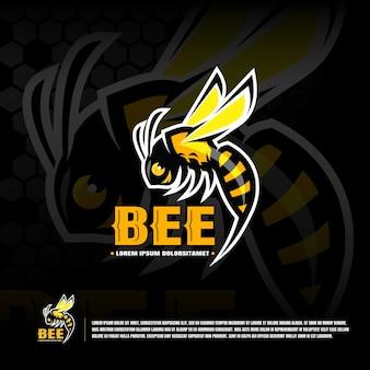 Bee sport team logo template