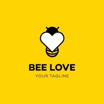 Шаблон логотипа bee