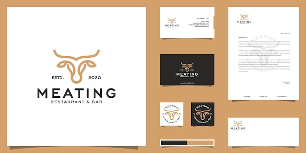 Beef bull logo and brand identity design