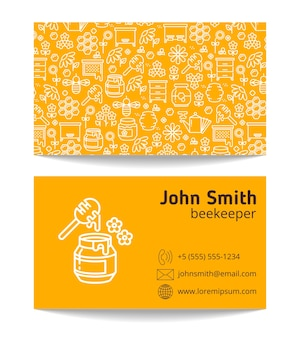 Beekeeper apiary double side business card