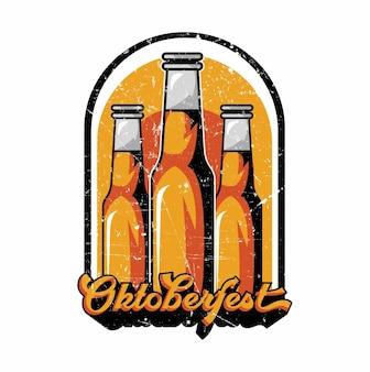 바이에른 옥토버페스트의 밀 화환에 맥주와 프레첼