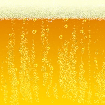 Beer background texture with foam and bubbles