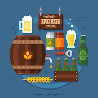 Beer background with elements