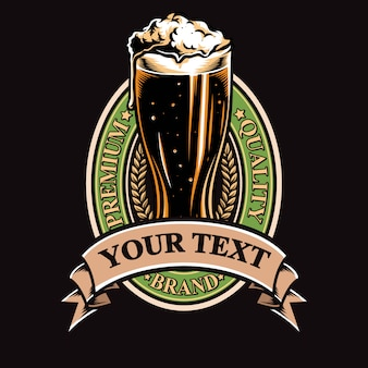 Beer badge vector and logo