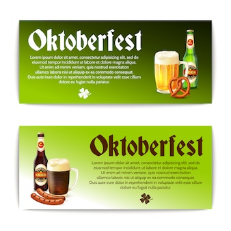 Beer banner horizontal set