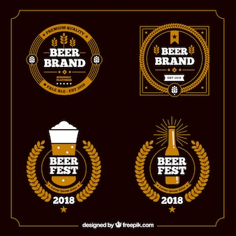 Beer bar logo template collection