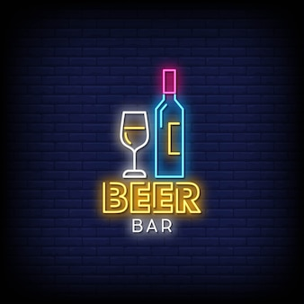 Beer bar neon signs