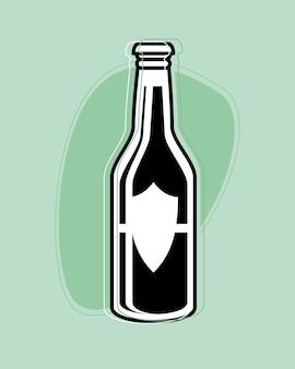 Beer bottle drink