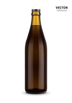 分離されたビール瓶ガラスモックアップ
