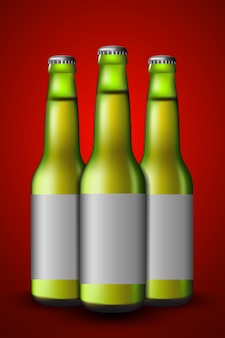 Зеленая бутылка пива