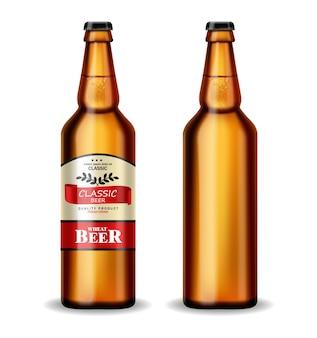 Beer bottle realistic
