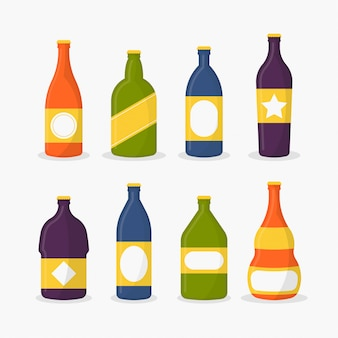 Beer bottles vector illustration