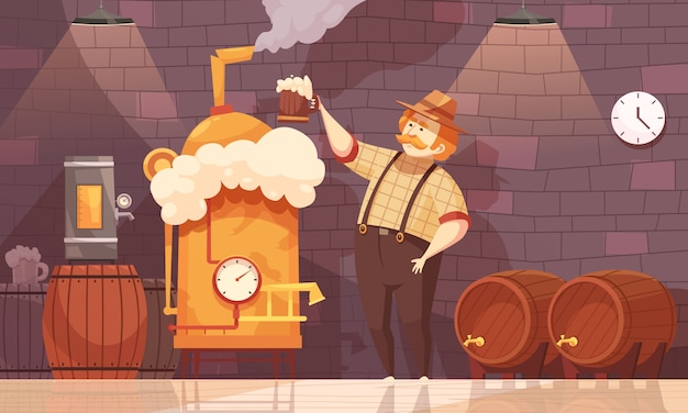 Beer brewer illustration