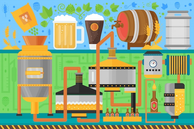 Beer brewery production process