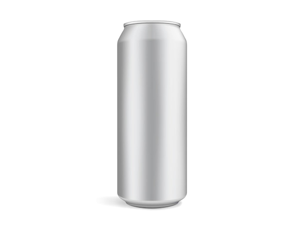 Beer can isolated on white background vector mock up template