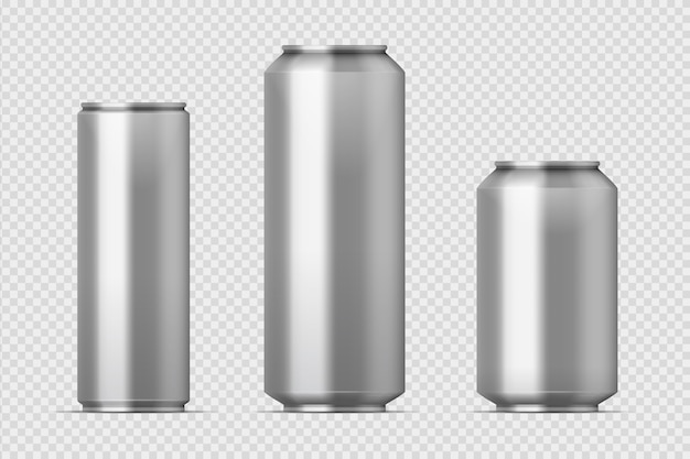 Beer can mockup illustration
