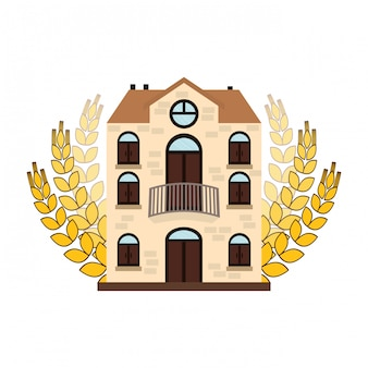 Beer canteen with wheat image design