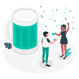 Beer celebration concept illustration