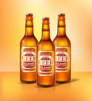 Beer classic types of alcoholic beverage vector