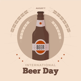 Beer day celebration with bottle