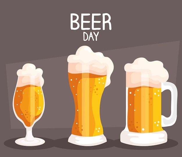 Beer day drinks poster