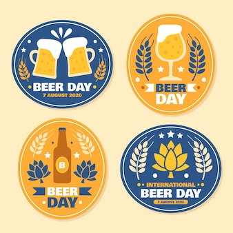 Beer day labels collection