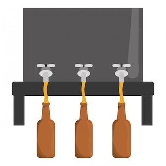 Beer dispensers icon image design