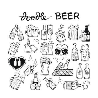 Beer doodle hand drawn