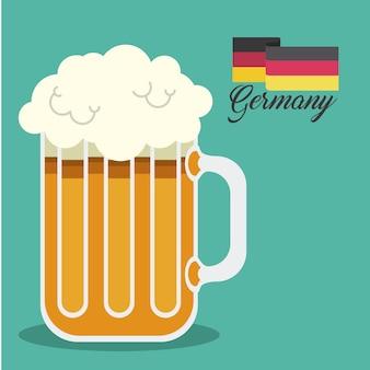Пиво пить эль германия дизайн векторной иллюстрации
