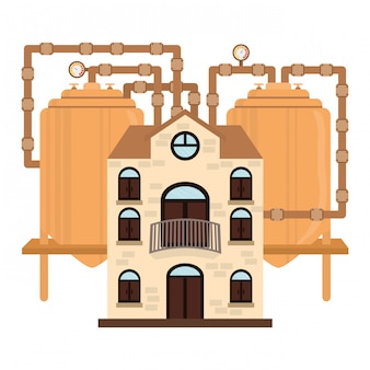 Beer factory icon image design